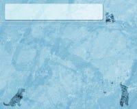 Błękitny grunge tło z psami Fotografia Royalty Free