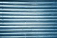 Błękitny grunge wykładający metalu ściana, tło lub tekstura, Zdjęcie Royalty Free