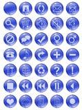 błękitny guziki royalty ilustracja