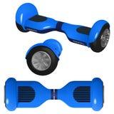 Błękitny gyroscooter z czarnymi kołami, wektorowy wizerunek Obrazy Royalty Free