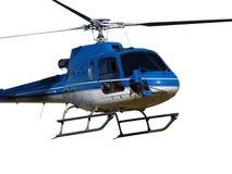 Błękitny helikopter na bielu zdjęcie stock