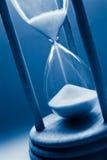błękitny hourglass fotografia royalty free