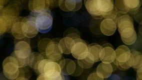 Błękitny i żółty bokeh zdjęcie wideo