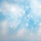 Błękitny i biały abstrakcjonistyczny nieba tło Fotografia Royalty Free