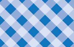 Błękitny i biały Gingham wzoru tło również zwrócić corel ilustracji wektora royalty ilustracja