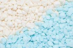 Błękitny i biały mały kamienny żwir tekstury tło fotografia royalty free