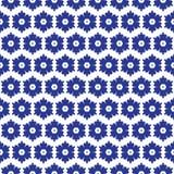 Błękitny i biały marokański bezszwowy wzór royalty ilustracja