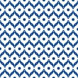 Błękitny i biały marokański bezszwowy wzór ilustracja wektor