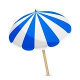 Błękitny i biały parasol royalty ilustracja