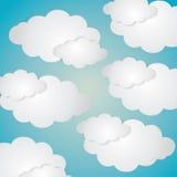 Błękitny i biały tło chmury ikona royalty ilustracja