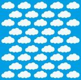 Błękitny i biały tło chmury ikona ilustracji
