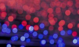 Błękitny i Czerwony Bokeh tło Fotografia Royalty Free