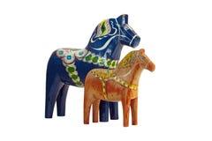 Błękitny i czerwony Dala koń Obraz Royalty Free