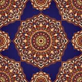 Błękitny i czerwony elegancja ornament ilustracja wektor