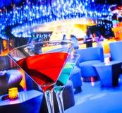 Błękitny i czerwony koktajlu napój z przestrzenią dla teksta Obraz Royalty Free