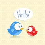 Błękitny i czerwony ptak Obraz Royalty Free