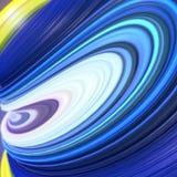 Błękitny i kolor żółty przekręcający kształt Komputery wytwarzający abstrakcjonistyczni geometryczni 3D odpłacają się ilustrację Obraz Royalty Free