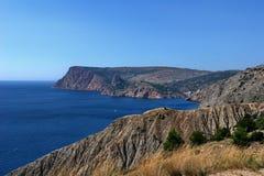 Błękitny i ocher krajobraz Zdjęcia Stock