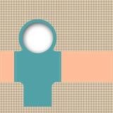Błękitny i pomarańczowy szablon. Obraz Stock