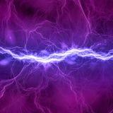 Błękitny i purpurowy elektryczny oświetlenie Zdjęcie Royalty Free