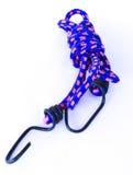 Błękitny i różowy elastyczny sznurek na Białym tle Zdjęcie Stock
