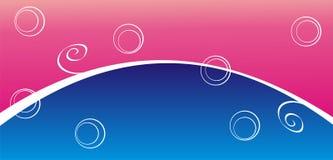 Błękitny i różowy tło Obrazy Royalty Free
