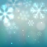 Błękitny i turkusowy zimy tło ilustracji