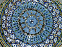 Błękitny i złota kolorowy wzór Obrazy Stock