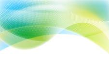 Błękitny i zielony abstrakcjonistyczny błyszczący fala tło ilustracja wektor