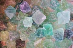 błękitny i zielony fluoryt kopaliny tło Obraz Royalty Free