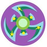 Błękitny i zielony kądziołek Obraz Royalty Free