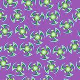 Błękitny i zielony kądziołek wzór Obraz Royalty Free