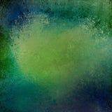 Błękitny i zielony tło z rocznika grunge textured granicę Zdjęcia Royalty Free