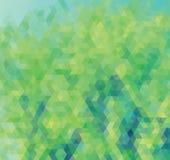 Błękitny i zielony trójbok Fotografia Royalty Free