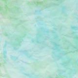 Błękitny i zielony zmięty papier dla tła ilustracja wektor