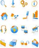 błękitny ikon internetów sieć royalty ilustracja