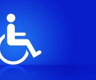 Błękitny Inwalidzki tło Zdjęcia Royalty Free