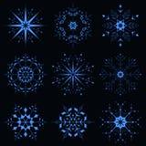 Błękitny iskrzasty płatek śniegu Zdjęcie Royalty Free