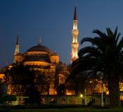 błękitny Istanbul meczetu noc Obrazy Royalty Free