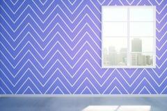 Błękitny izbowy wnętrze Obrazy Stock