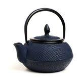 błękitny japoński teapot Zdjęcie Royalty Free