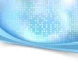 Błękitny jaskrawy kropkowany skoroszytowy tło Zdjęcia Royalty Free