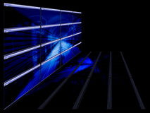 błękitny jaskrawy technologiczny Obraz Stock