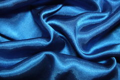błękitny jedwab Zdjęcie Royalty Free
