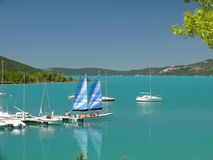 Błękitny jezioro Fotografia Stock