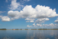 błękitny jezioro Obraz Royalty Free