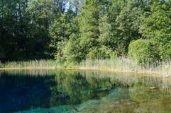 Błękitny jezioro, park narodowy Zdjęcie Royalty Free