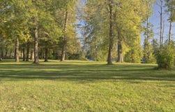 Błękitny jezioro park przy zmierzchem Oregon Obraz Royalty Free