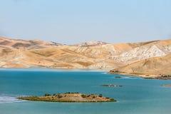 Błękitny jezioro w Morocco Zdjęcia Stock