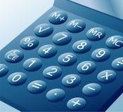 błękitny kalkulator royalty ilustracja